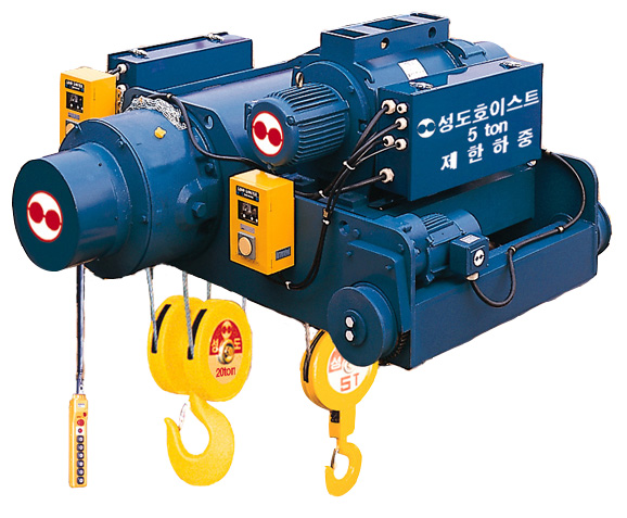 Double-rail type main & aux hoist